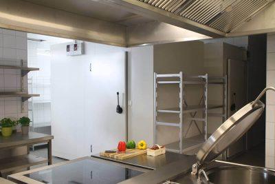 Kühlzellen in einer Großküche