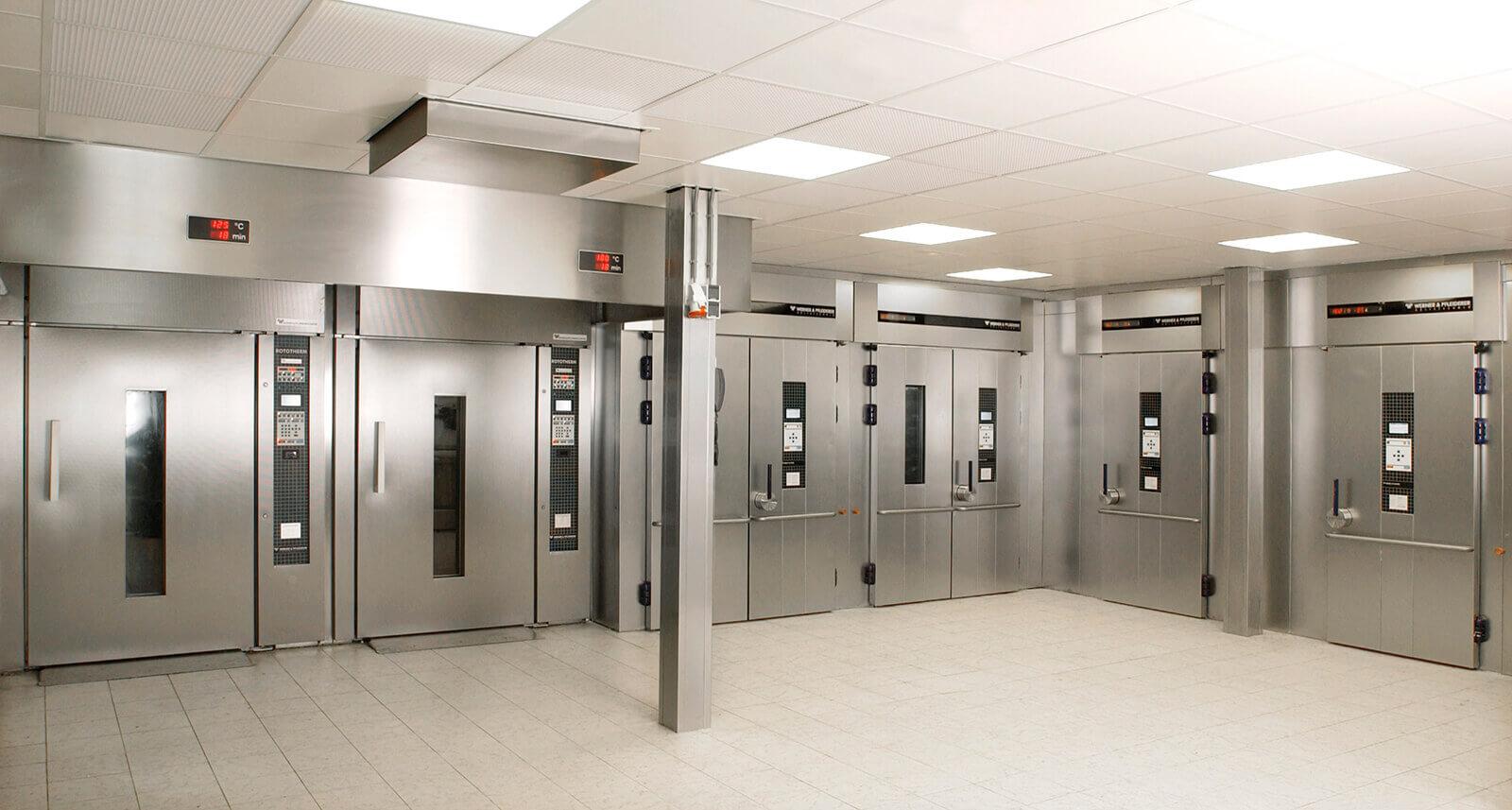 Edelstahl-Kühlzellen für die Bäckerei