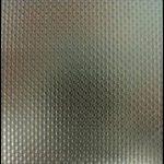 Muster Sonderdeckschicht Edelstahl in Leinenoptik